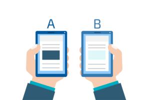 Illustrazione che rappresenta un AB test
